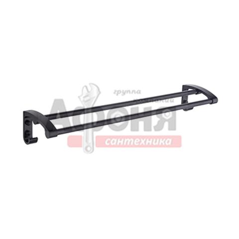 5509/L Полотенцедержатель двойной 60см (черный)