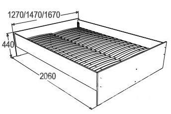 Кровать Ольга 14