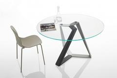 Стол MILLENNIUM (20.42) D130x75 см (MC03/C157) Bontempi — прозрачный