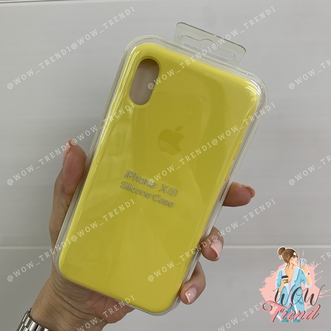 Чехол iPhone XS Silicone Case /canary yellow/