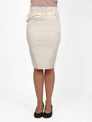 7095-1 юбка бежевая