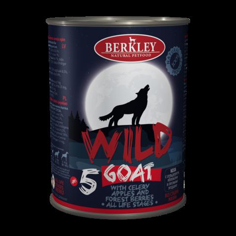 Berkley № 5 Консервы для собак с мясом козы, сельдереем, яблоками и лесными ягодами (Банка)