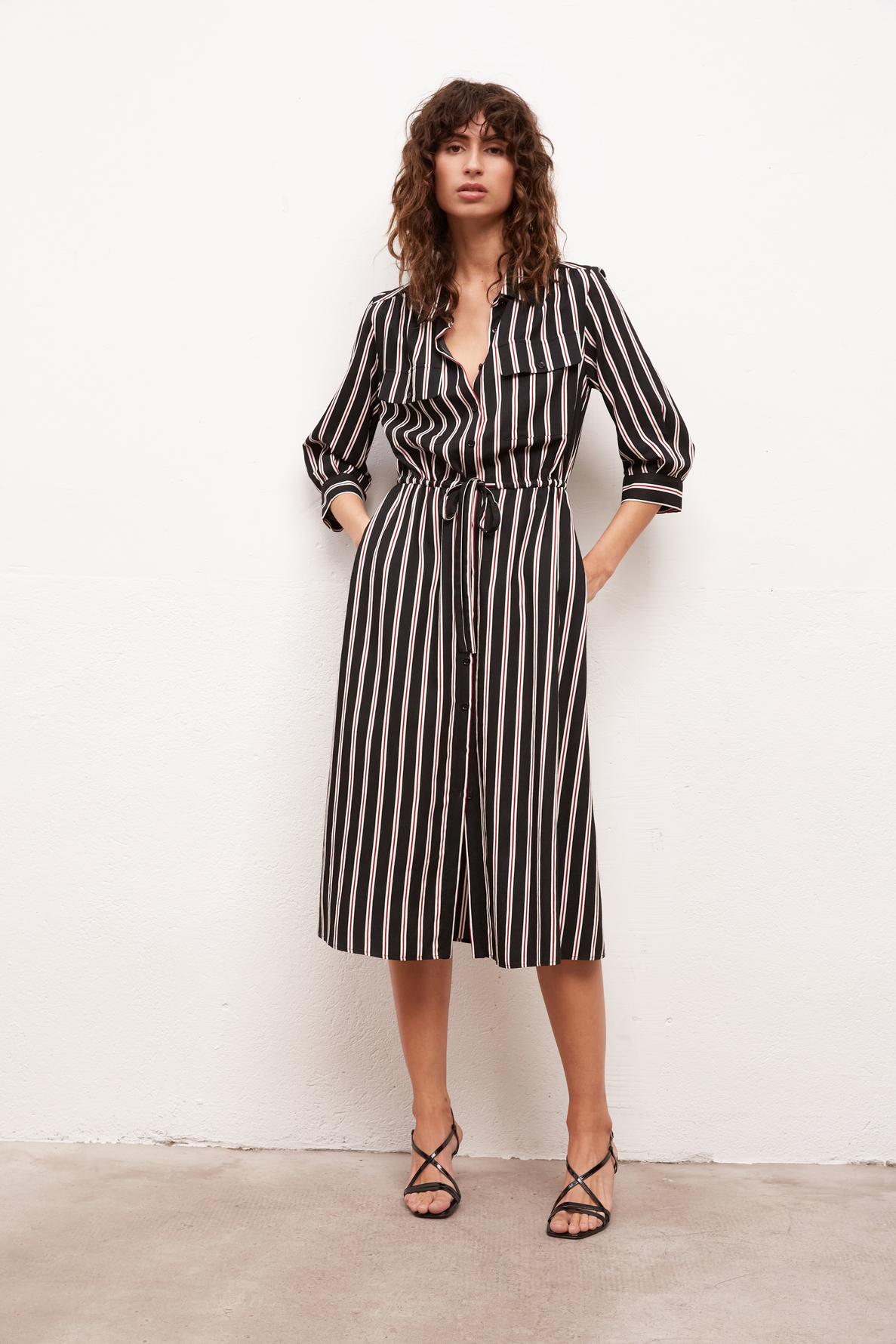 Simona - Полосатое платье-рубашка длины миди