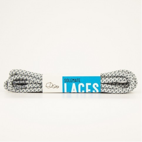 Шнурки Solemate Laces Серо-Белого Цвета