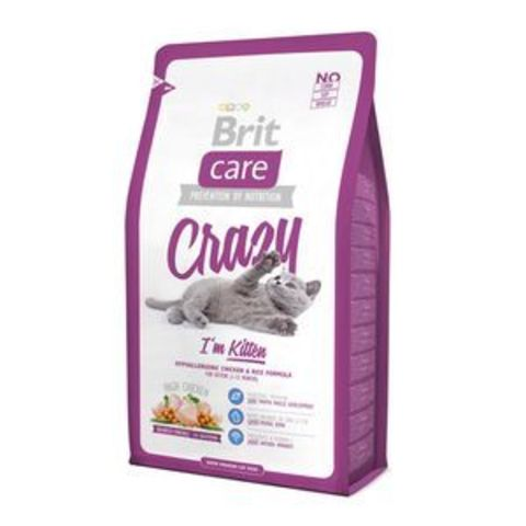 2707 Brit Care Cat Kitten Cruzzy д/Котят, беременных и кормящих кошек 400гр*6
