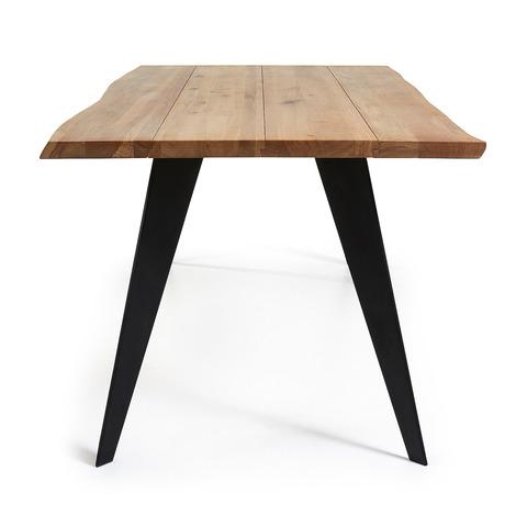 Стол Nack 180x100 Черный, натуральный дуб