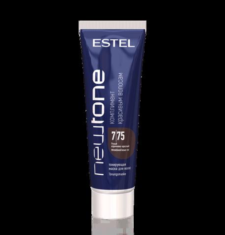 Тонирующая маска для волос NEWTONE ESTEL 7/75 Русый коричнево-красный, 60 мл