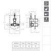 Встраиваемый термостатический смеситель для душа AROLA 262411S на 1 выход - фото №2