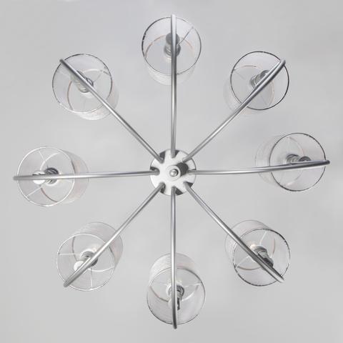 Подвесная люстра с абажурами 60099/8 серебро