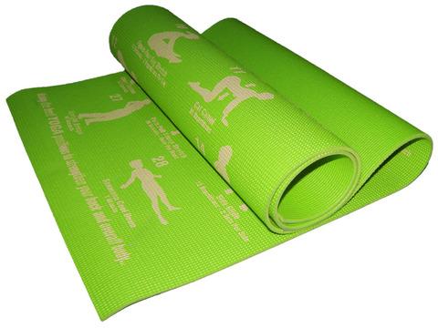 Коврик для йоги. Цвет зелёный. RW-6-З