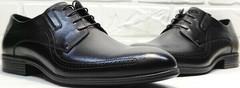 Выпускные туфли классика мужские Ikoc 3416-1 Black Leather.