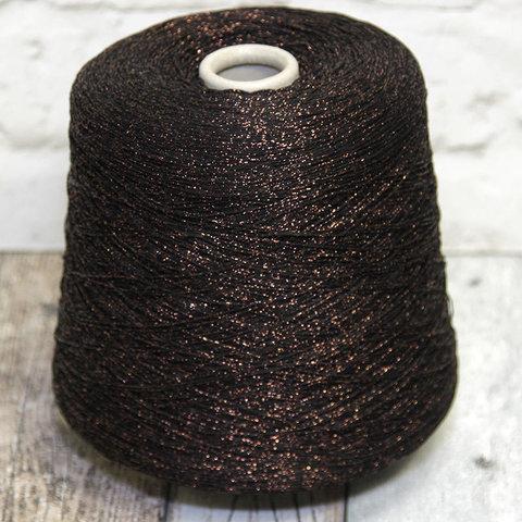 Вискоза с люрексом BRILLINO 720 коричневый с медью