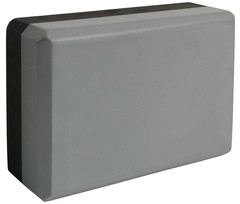 Блок для йоги Ironmaster серый-черный