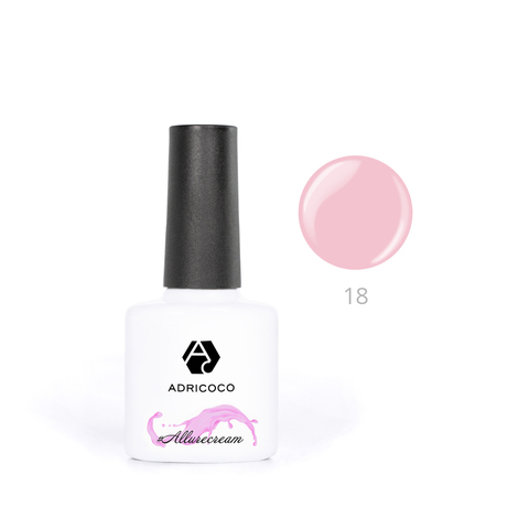 Гель-лак ADRICOCO Est Naturelle №18 камуфлирующий бледно-розовый (8 мл.)