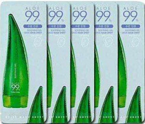 Holika Holika Aloe 99% Soothing Gel Gelee Mask Sheet Успокаивающая гелевая маска 23 мл.