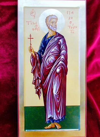 Икона святой Тимофей на дереве на левкасе