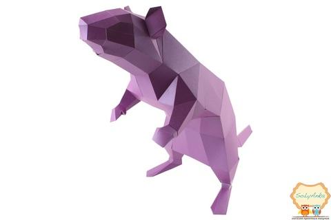 Конструктор. Щур. Papercraft. 3D фігура з паперу та картону.