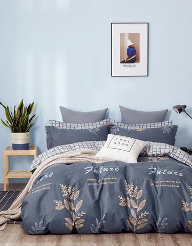 Постельное белье Аэлита сине-серый