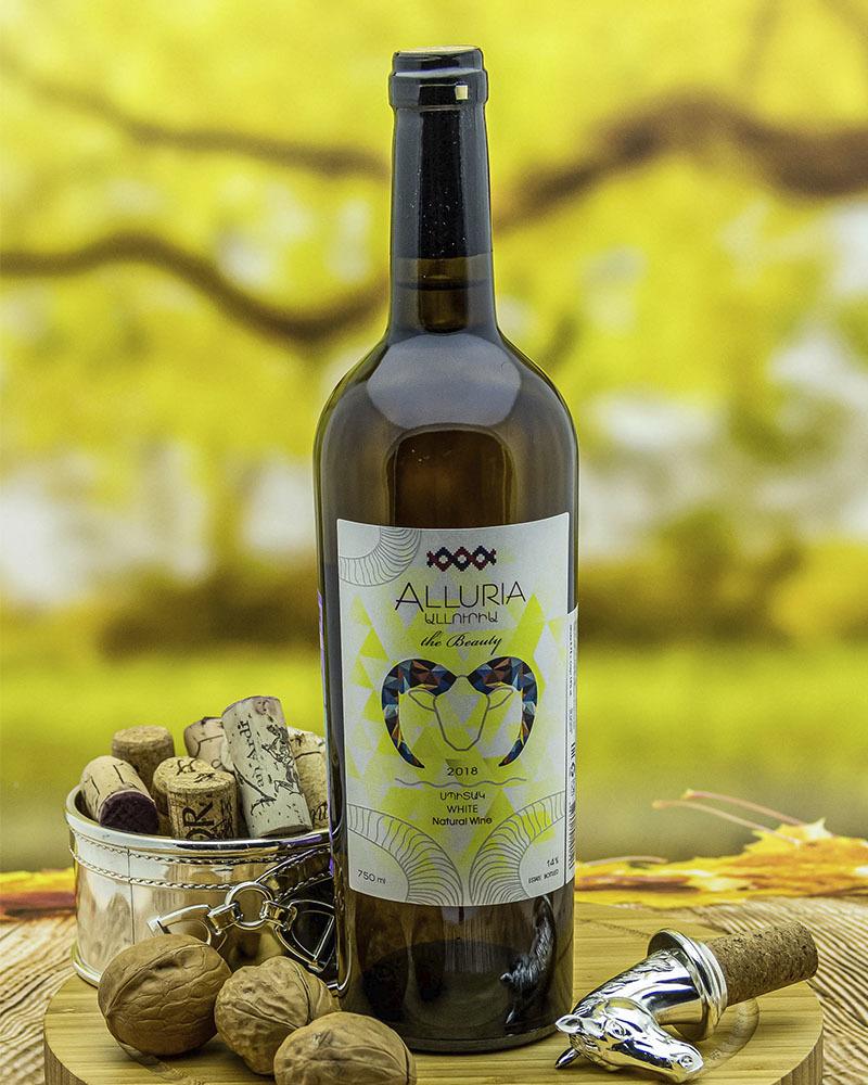Вино Alluria Белое Сухое 2018 г.у. 14% 0,75 л.