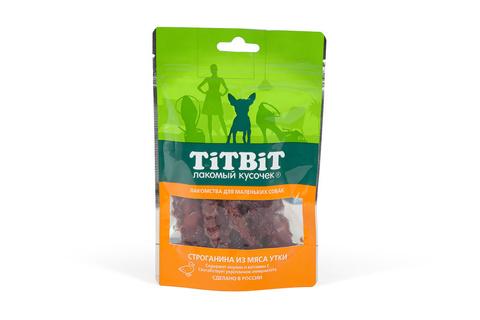 Titbit Лакомство для собак мелких пород строганина из мяса утки