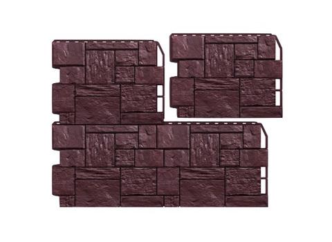 Пример отделки Туф Тёмно-коричневый