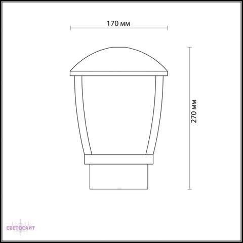 Уличный светильник на столб 4051/1B серии TAKO