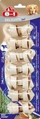 Лакомство для собак, 8in1 DELIGHTS Beef XS, косточки с говядиной для мелких собак, 7,5 см 7 шт
