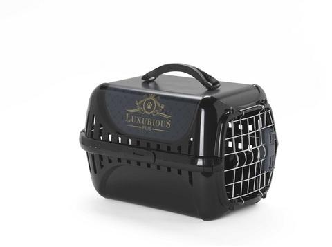 Moderna Luxurious переноска 49x32x30h см с металлической дверцей, черная