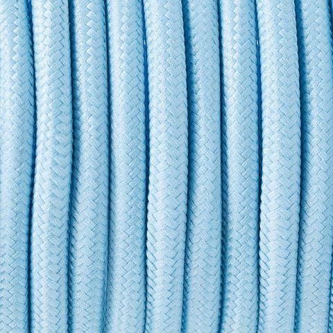 Круглый ретро провод (Светло-Голубой ) Италия