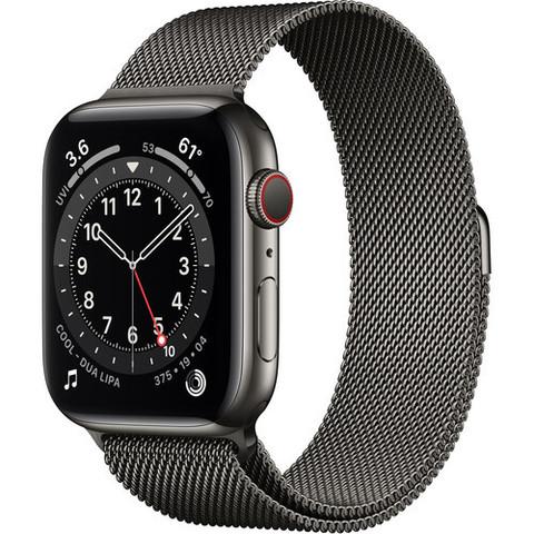 Часы Apple Watch Series 6 GPS + Cellular 44mm Stainless Steel Case with Milanese Loop (Графит) (M07R3,M09J3)