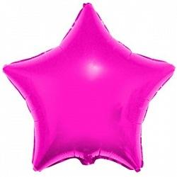 Фольгированный шар Звезда Hot Pink 18