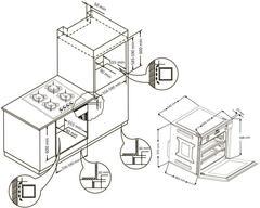 Встраиваемый духовой шкаф Korting OKB 792 CFN схема