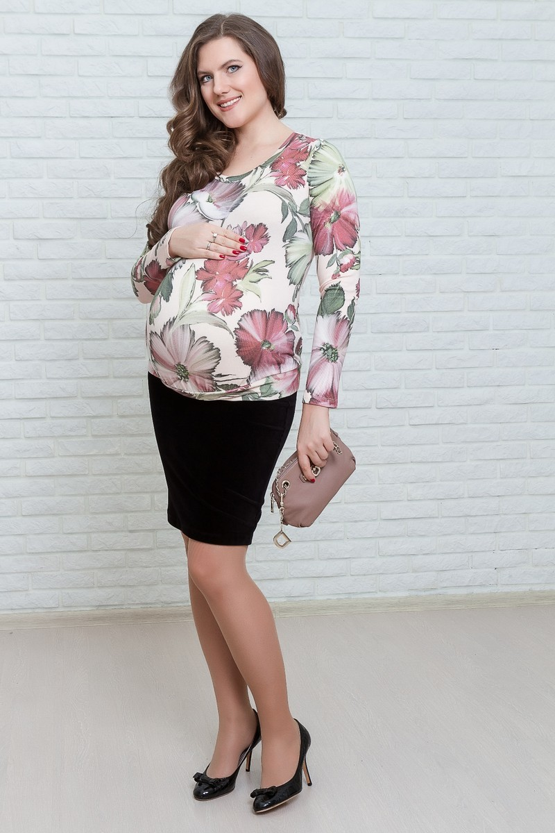 Джемпер для беременных 01838 белый