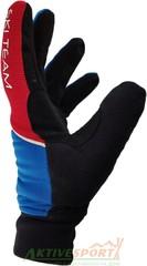 Перчатки лыжные утепленные Ski Team K18004BL черно/синие - 2