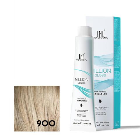 Крем-краска для волос TNL Million Gloss оттенок 900 Осветляющий натуральный 100 мл
