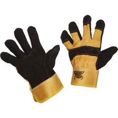 Перчатки рабочие трикотажные спилковые комбинированные эконом (размер 10, XL)