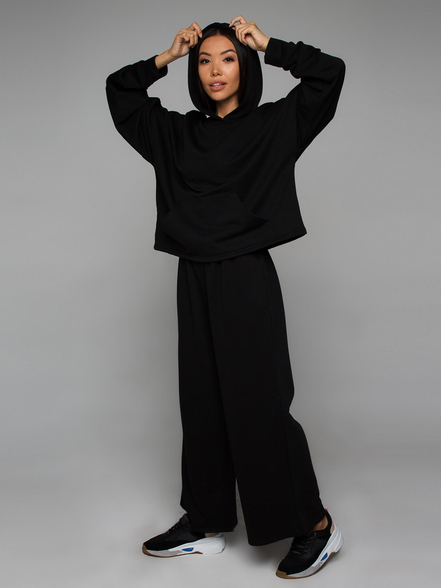 Брюки трикотажные черные YOS от украинского бренда Your Own Style