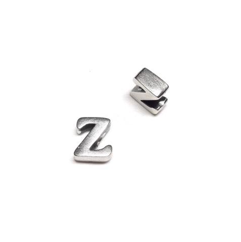Alphabet letter Z, sterling silver