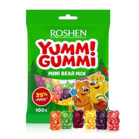 Конфеты ROSHEN Yummi Gummi Mini Bear Mix желейные 100 г УКРАИНА