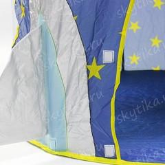 Ракета Синяя 3в1, палатка+туннель+бассейн