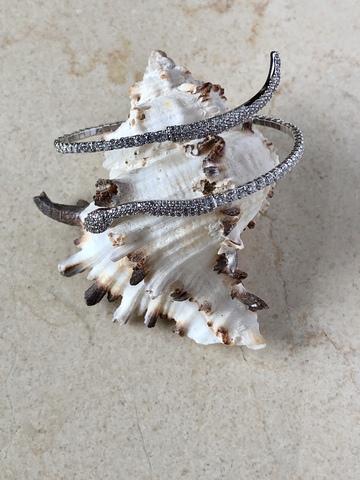 Браслет Таймлиана с цирконами, серебряный цвет