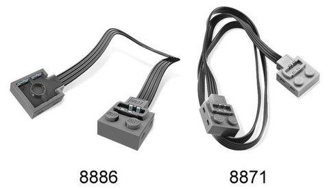 LEGO Education Mindstorms: Дополнительный силовой кабель (20 см) 8886 — Extension Cable — Лего Образование