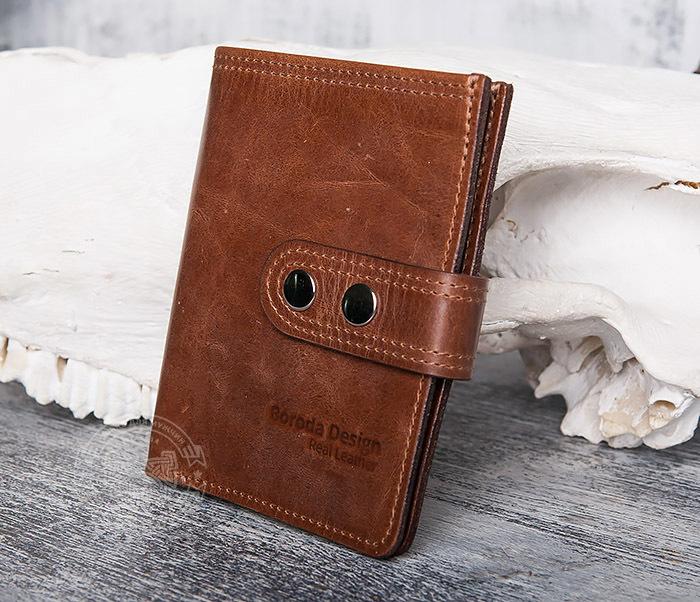 WL283-2 Крутое мужское портмоне ручной работы из кожи фото 03