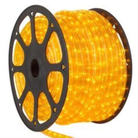 Гирлянда желтая дюралайт Delux светодиодная шланг LED 2wrl