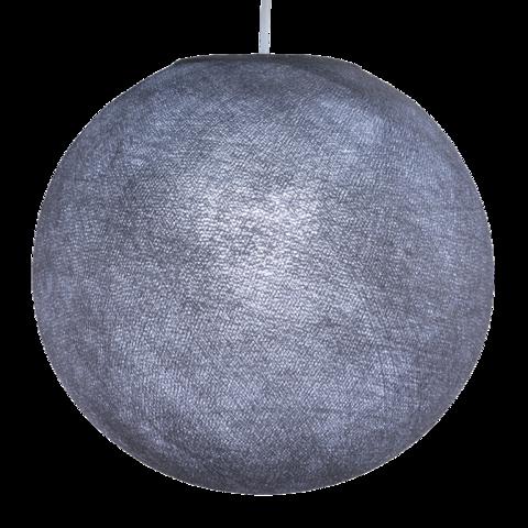 Хлопковый шар - подвес Темно-серый