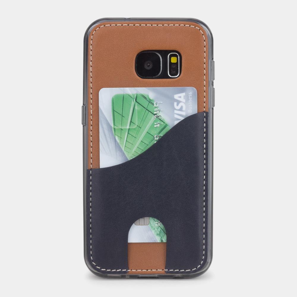 Чехол-накладка Andre для Samsung S7 из натуральной кожи теленка, коричневого цвета