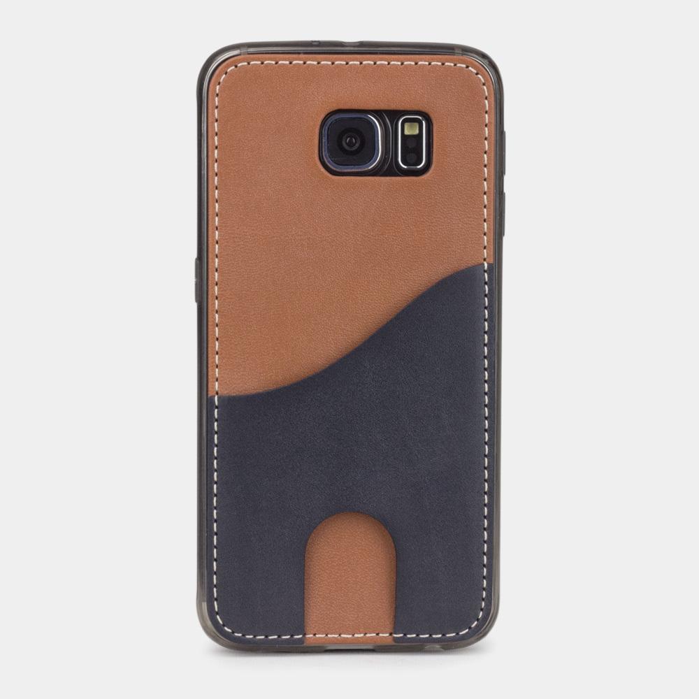 Чехол-накладка Andre для Samsung S6 из натуральной кожи теленка, коричневого цвета