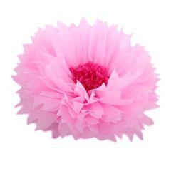 Бумажный цветок 40 см розовый+малиновый