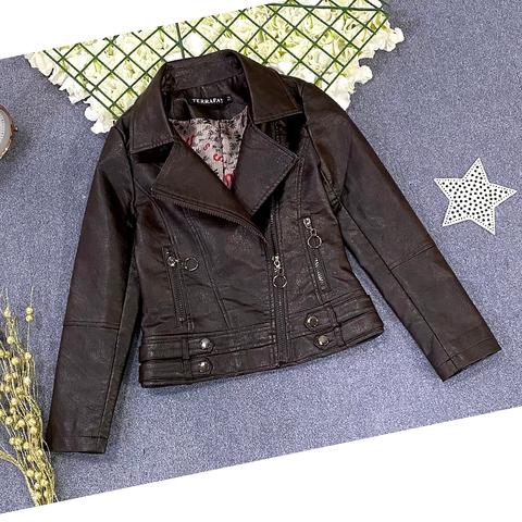 Куртка экокожа девочке (5-9) 210205-J7131