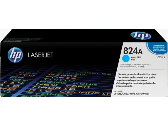 Картридж лазерный цветной original 824A CB381A голубой (cyan), до 21000 стр.